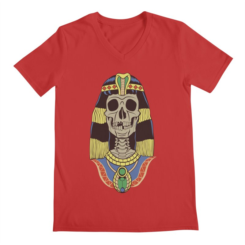 Skull Cleopatra Men's Regular V-Neck by funnyfuse's Artist Shop