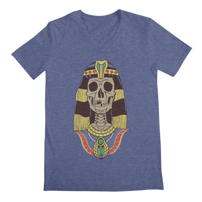 Skull Cleopatra Men's V-Neck by funnyfuse's Artist Shop