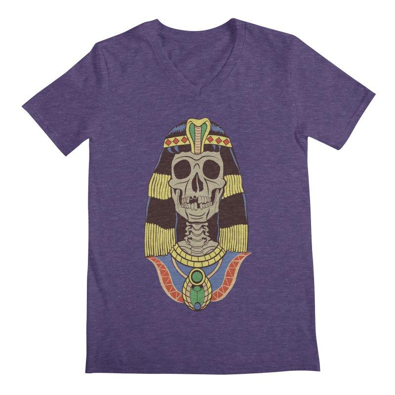 Skull Cleopatra Men's Regular V-Neck by funnyfuse's Artist Shop