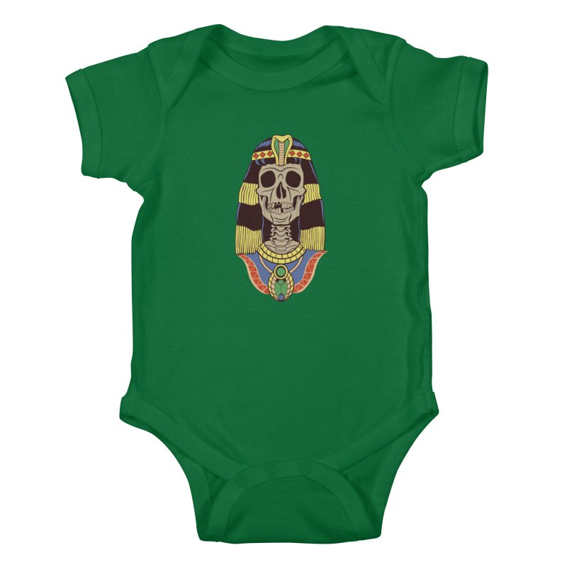 Skull Cleopatra Kids Baby Bodysuit by funnyfuse's Artist Shop