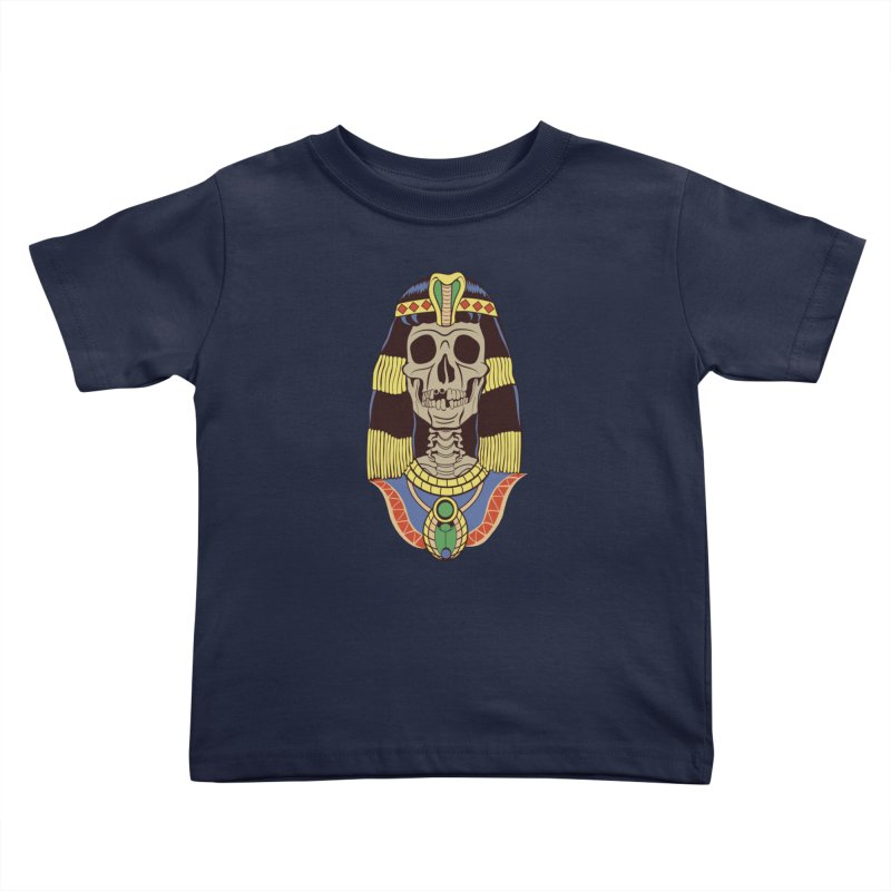 Skull Cleopatra Kids Toddler T-Shirt by funnyfuse's Artist Shop
