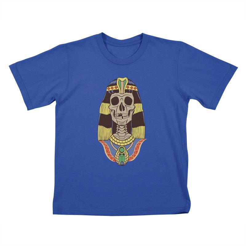Skull Cleopatra Kids T-Shirt by funnyfuse's Artist Shop