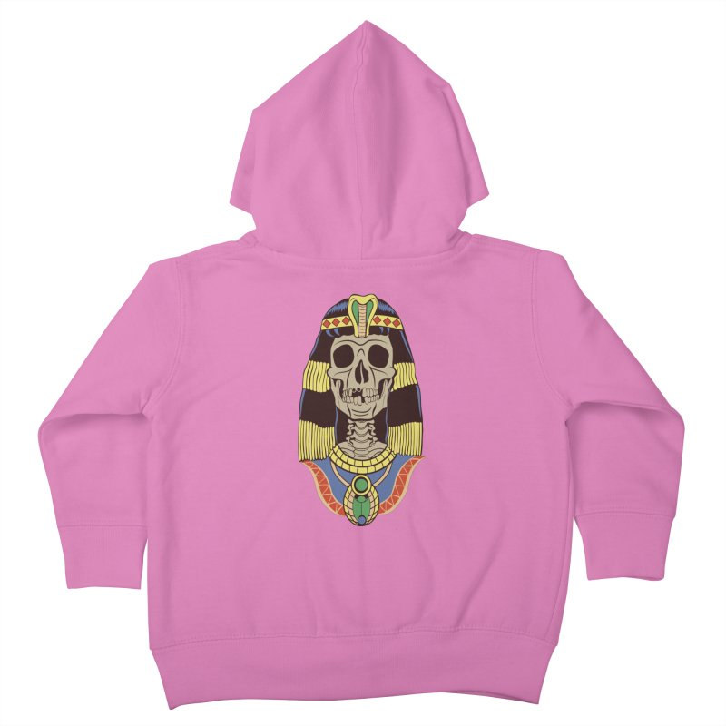 Skull Cleopatra Kids Toddler Zip-Up Hoody by funnyfuse's Artist Shop