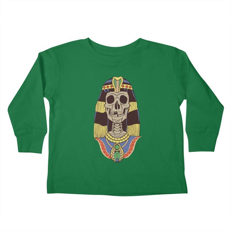 Skull Cleopatra Kids Toddler Longsleeve T-Shirt by funnyfuse's Artist Shop