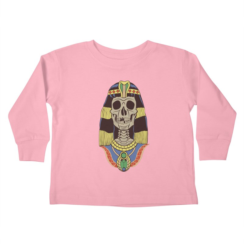 Skull Cleopatra Kids Toddler Longsleeve T-Shirt by funnyfuse's Artist Shop