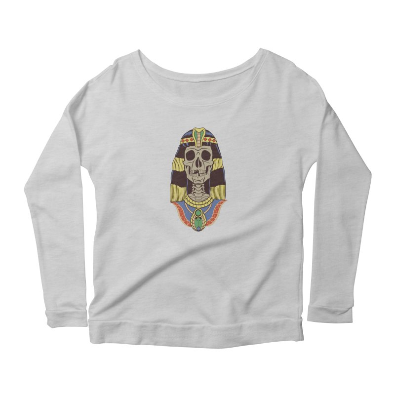 Skull Cleopatra Women's Scoop Neck Longsleeve T-Shirt by funnyfuse's Artist Shop