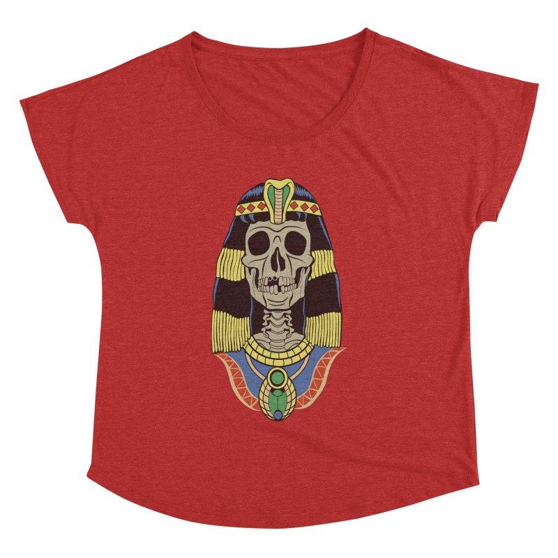 Skull Cleopatra Women's Dolman Scoop Neck by funnyfuse's Artist Shop
