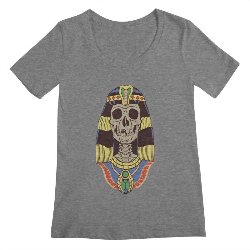 Skull Cleopatra Women's Scoopneck by funnyfuse's Artist Shop