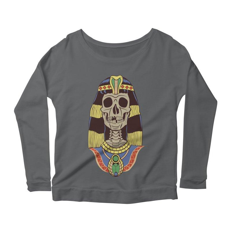 Skull Cleopatra Women's Longsleeve Scoopneck  by funnyfuse's Artist Shop