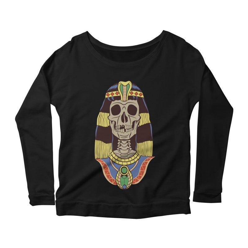 Skull Cleopatra Women's Scoop Neck Longsleeve T-Shirt by funnyfuse's Artist Shop