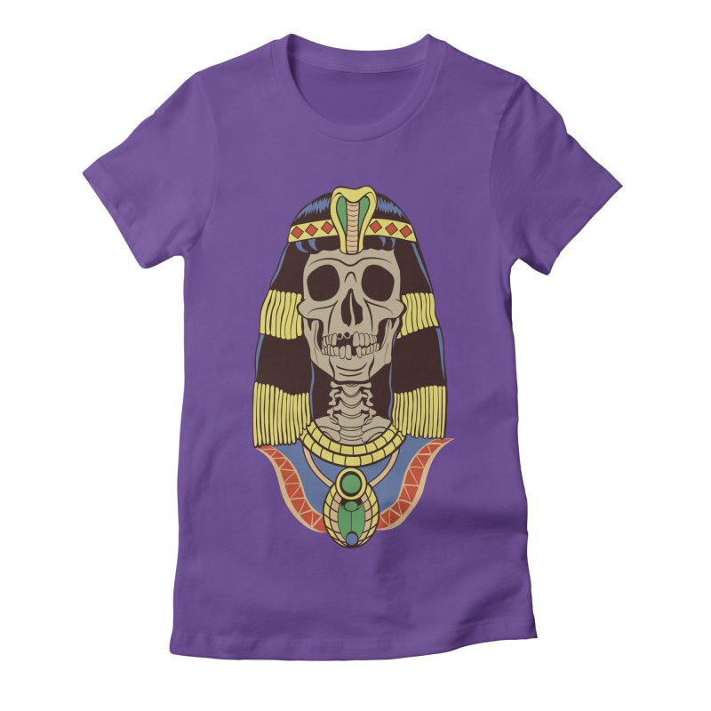 Skull Cleopatra Women's Fitted T-Shirt by funnyfuse's Artist Shop