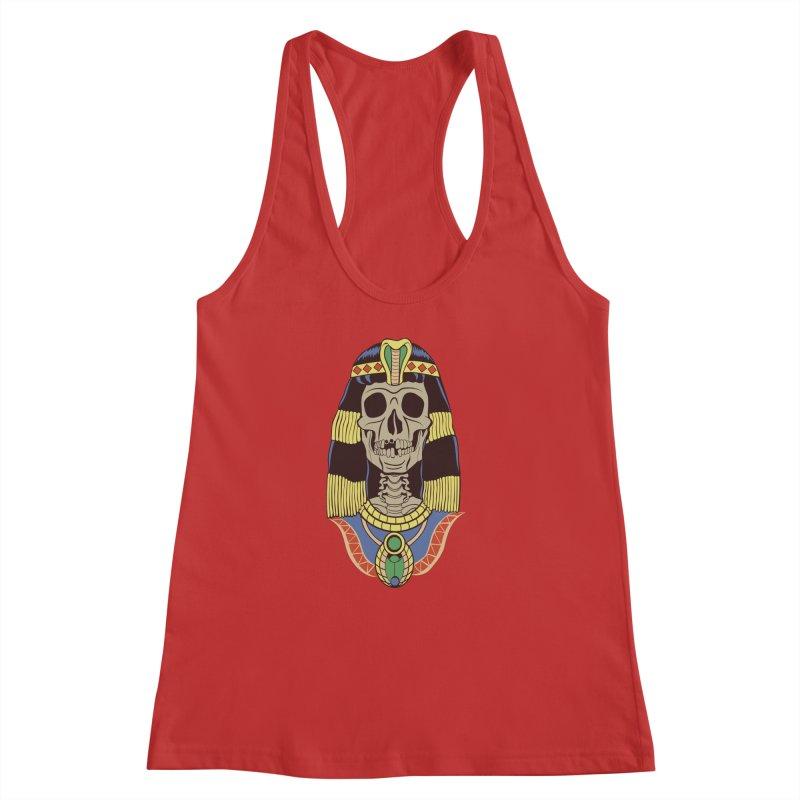 Skull Cleopatra Women's Racerback Tank by funnyfuse's Artist Shop