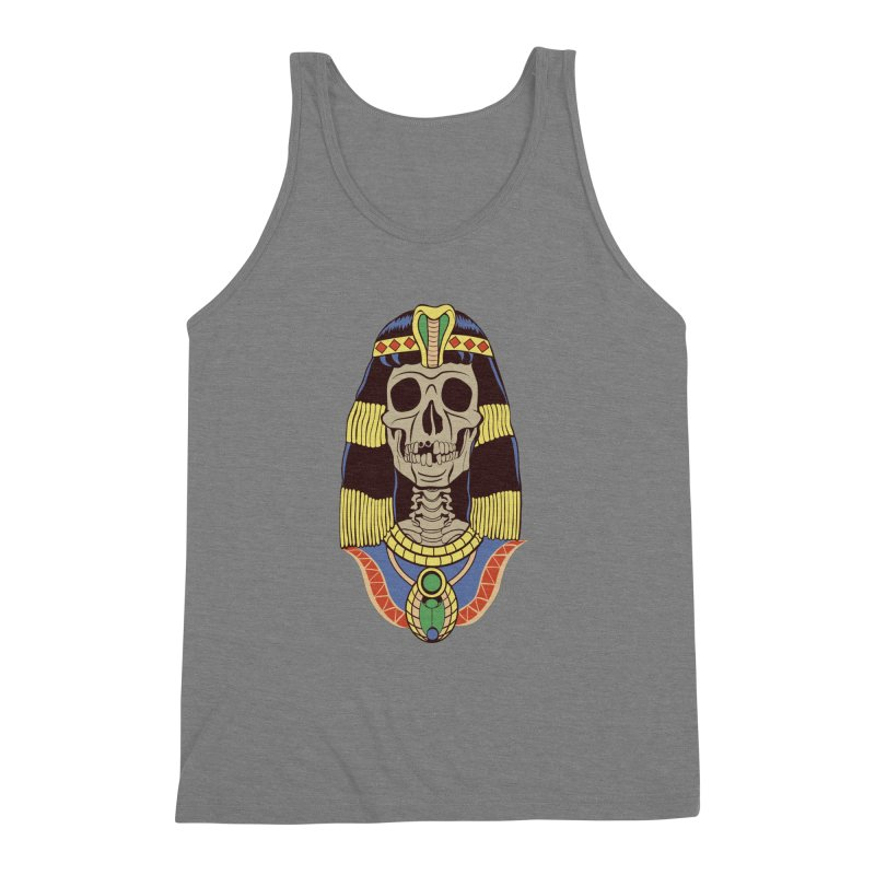 Skull Cleopatra Men's Triblend Tank by funnyfuse's Artist Shop