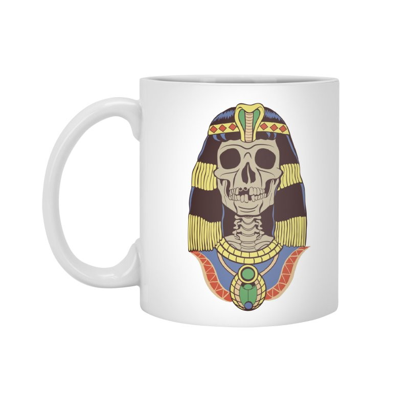 Skull Cleopatra Accessories Mug by funnyfuse's Artist Shop