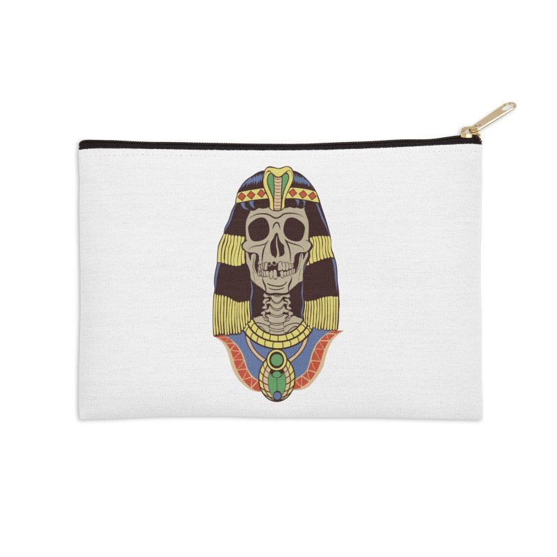 Skull Cleopatra Accessories Zip Pouch by funnyfuse's Artist Shop