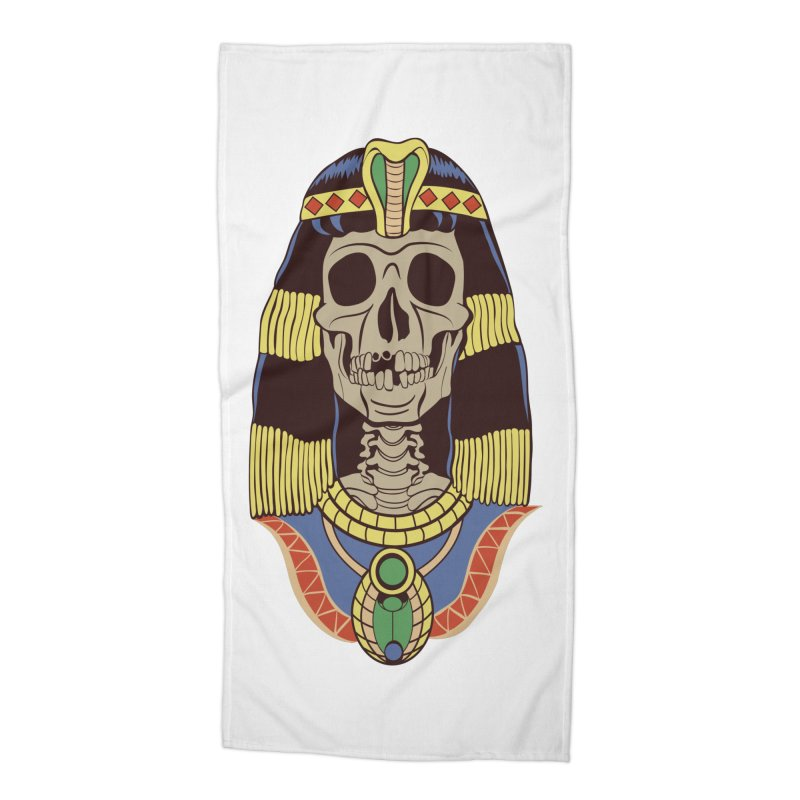 Skull Cleopatra Accessories Beach Towel by funnyfuse's Artist Shop