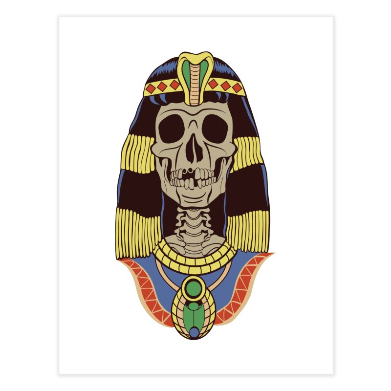 Skull Cleopatra Home Fine Art Print by funnyfuse's Artist Shop