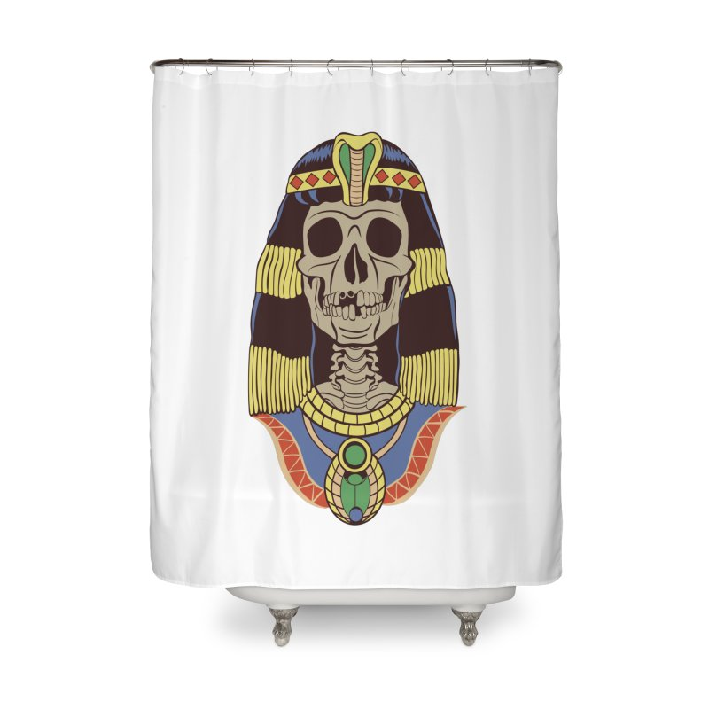 Skull Cleopatra Home Shower Curtain by funnyfuse's Artist Shop