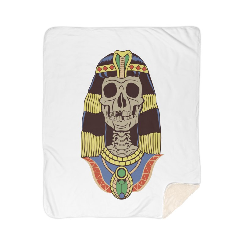 Skull Cleopatra Home Sherpa Blanket Blanket by funnyfuse's Artist Shop