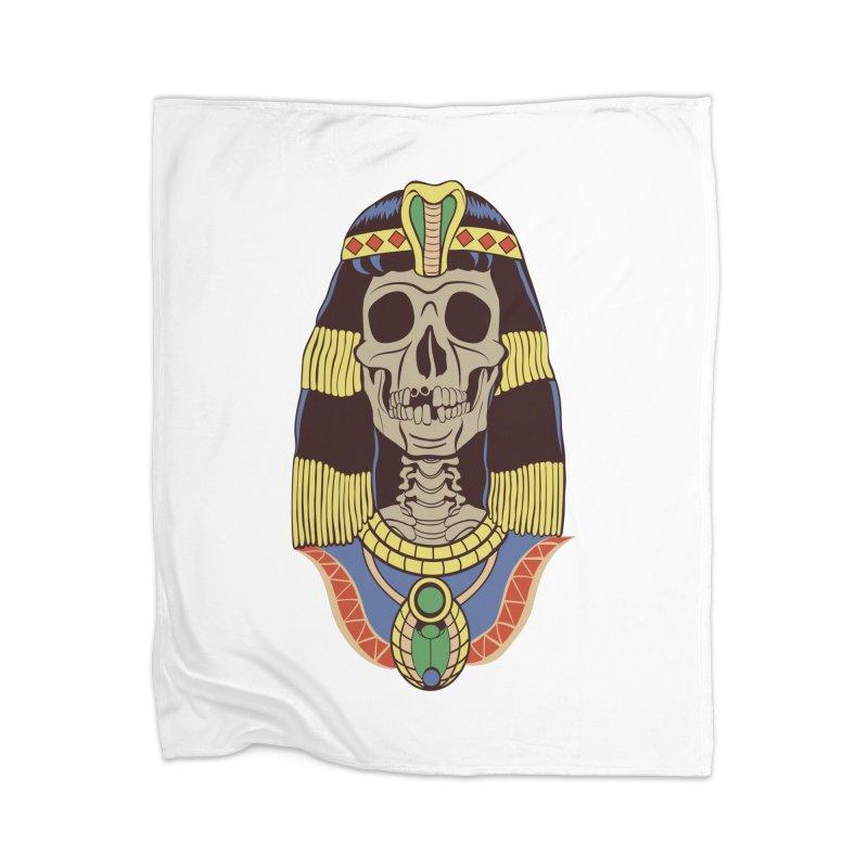 Skull Cleopatra Home Blanket by funnyfuse's Artist Shop