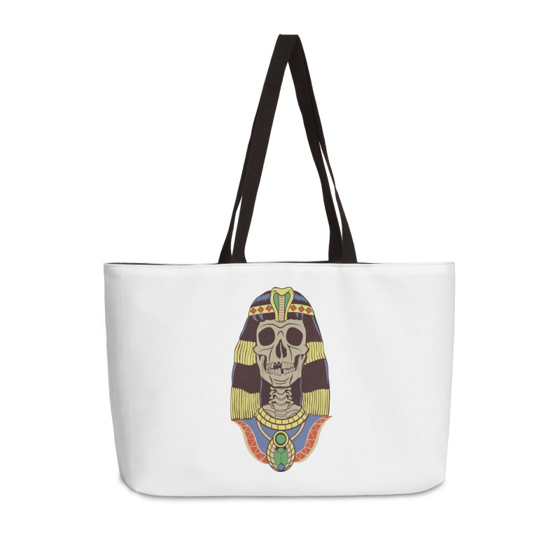 Skull Cleopatra Accessories Weekender Bag Bag by funnyfuse's Artist Shop