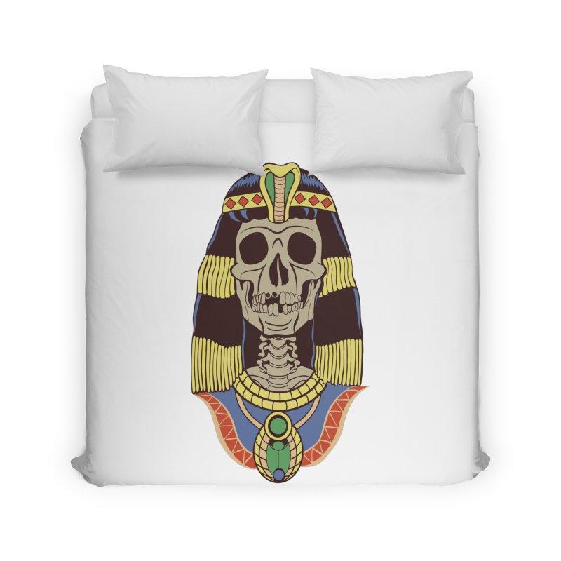 Skull Cleopatra Home Duvet by funnyfuse's Artist Shop