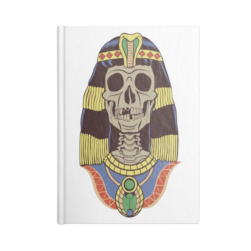 Skull Cleopatra Accessories Blank Journal Notebook by funnyfuse's Artist Shop
