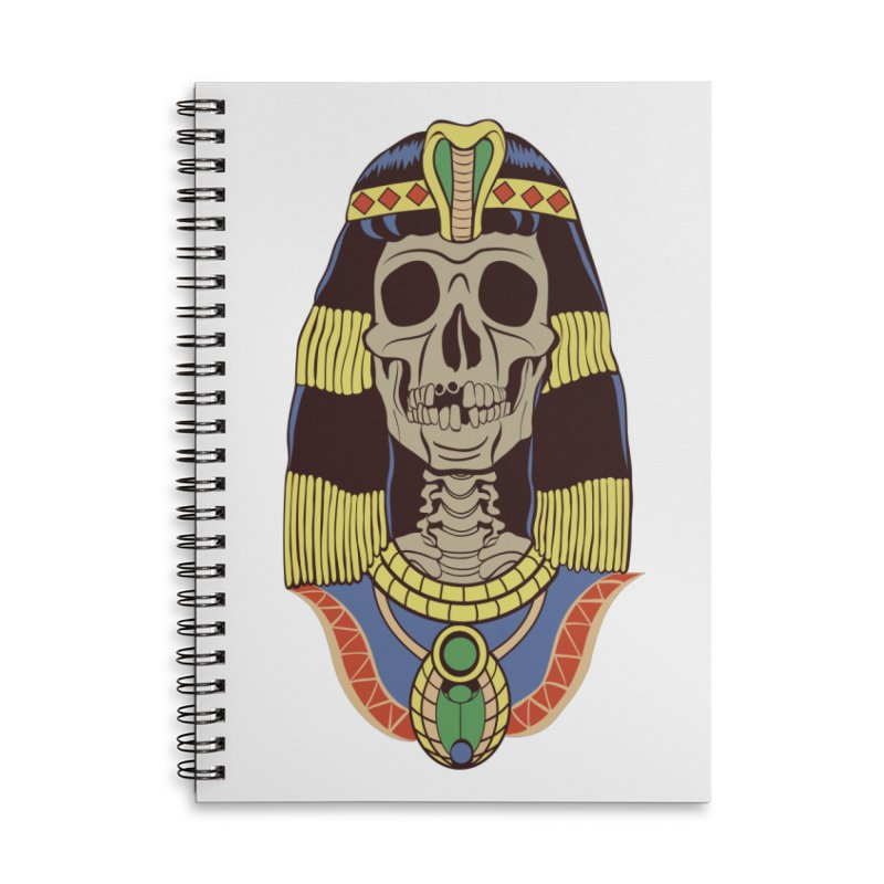 Skull Cleopatra Accessories Lined Spiral Notebook by funnyfuse's Artist Shop
