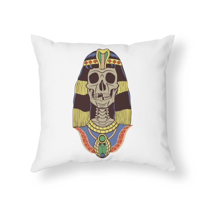 Skull Cleopatra Home Throw Pillow by funnyfuse's Artist Shop