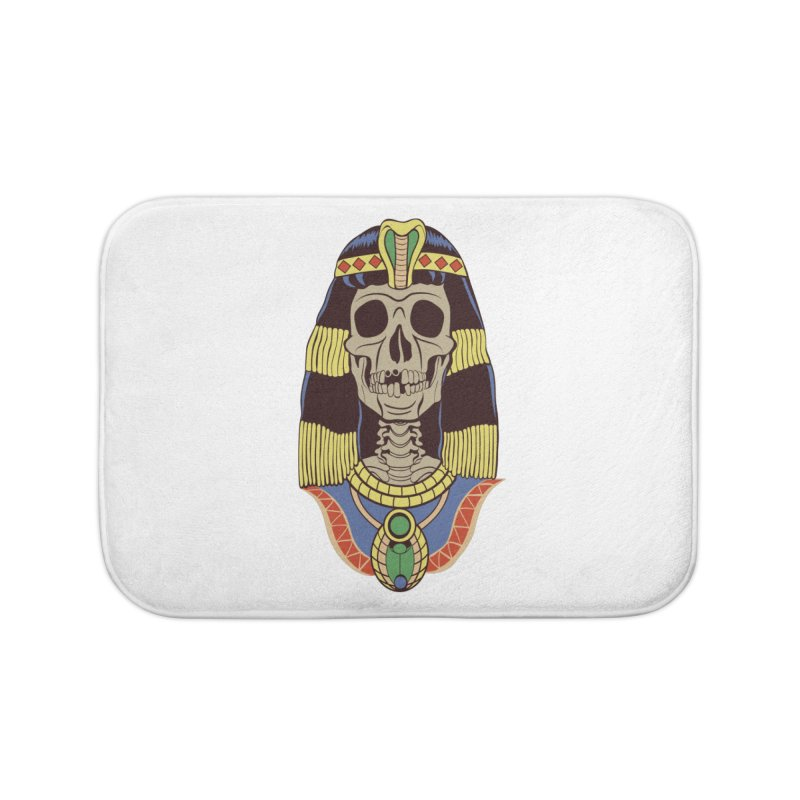 Skull Cleopatra Home Bath Mat by funnyfuse's Artist Shop