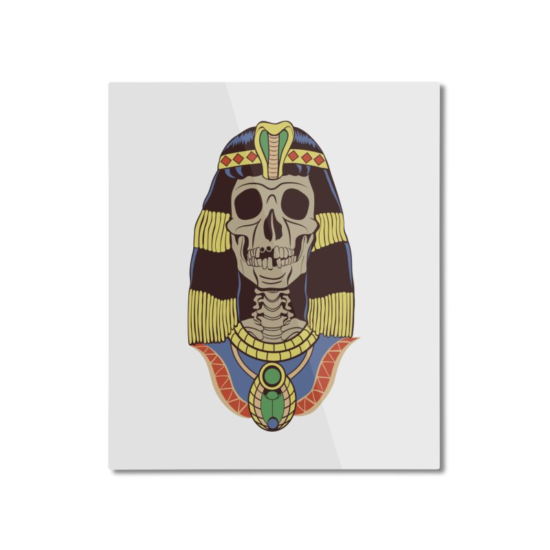 Skull Cleopatra Home Mounted Aluminum Print by funnyfuse's Artist Shop