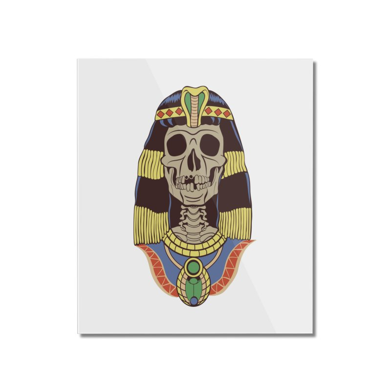 Skull Cleopatra Home Mounted Acrylic Print by funnyfuse's Artist Shop