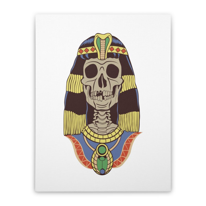 Skull Cleopatra Home Stretched Canvas by funnyfuse's Artist Shop