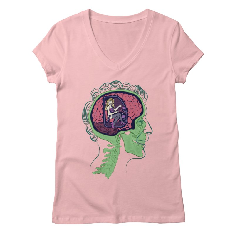 Sex Drive Women's Regular V-Neck by funnyfuse's Artist Shop
