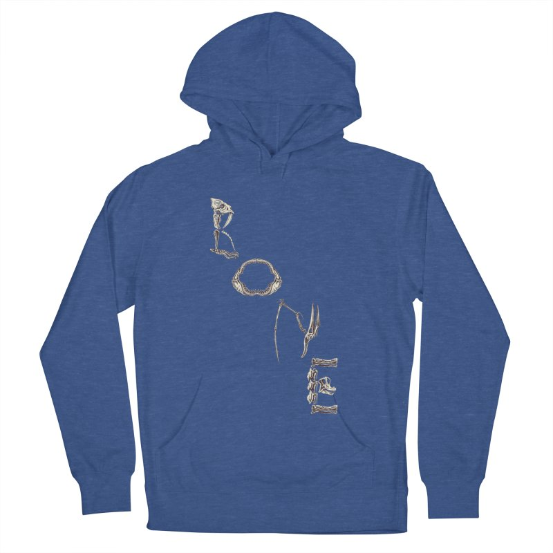 Bone Men's French Terry Pullover Hoody by funnyfuse's Artist Shop