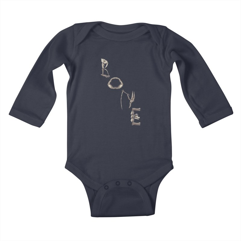 Bone Kids Baby Longsleeve Bodysuit by funnyfuse's Artist Shop