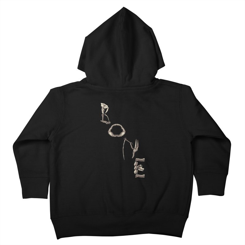 Bone Kids Toddler Zip-Up Hoody by funnyfuse's Artist Shop