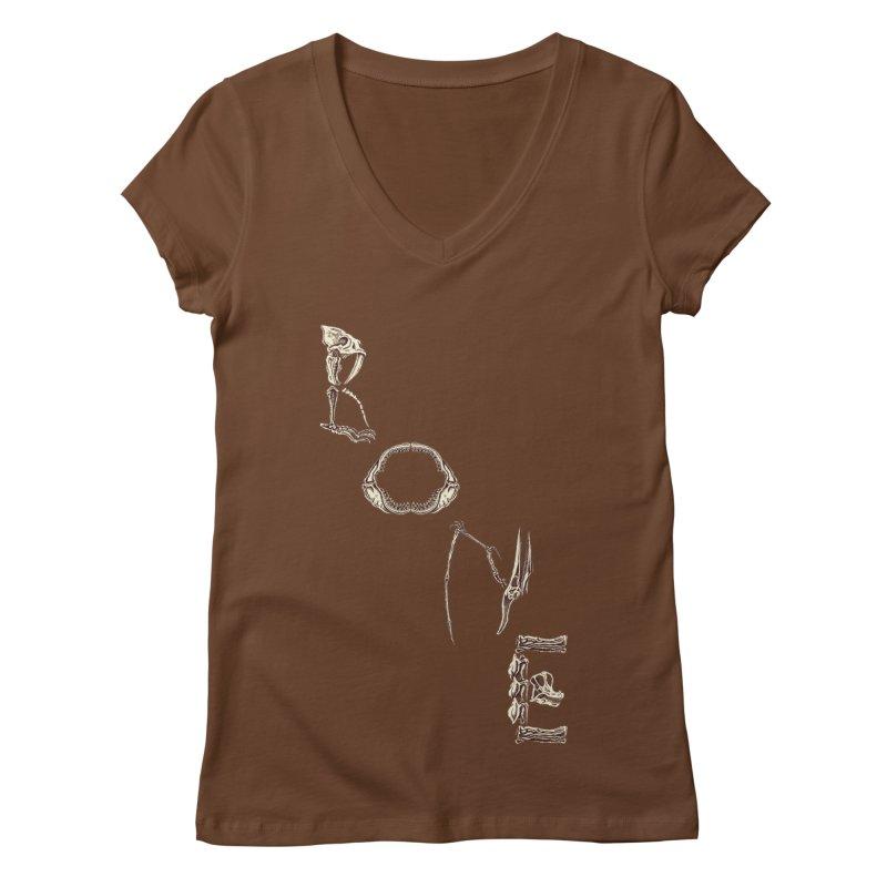 Bone Women's V-Neck by funnyfuse's Artist Shop