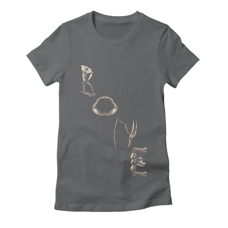 Bone Women's Fitted T-Shirt by funnyfuse's Artist Shop