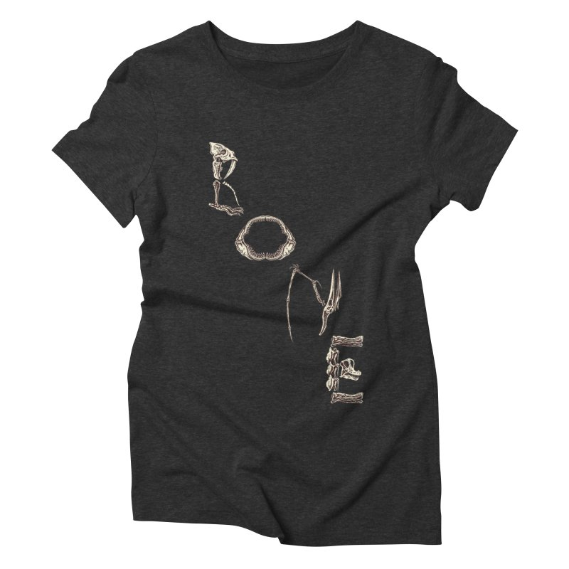 Bone Women's Triblend T-Shirt by funnyfuse's Artist Shop