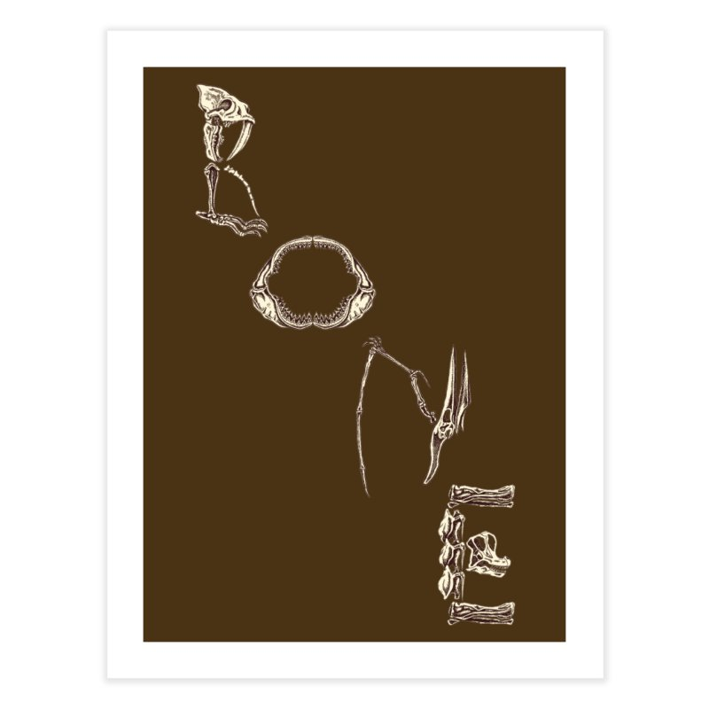 Bone Home Fine Art Print by funnyfuse's Artist Shop