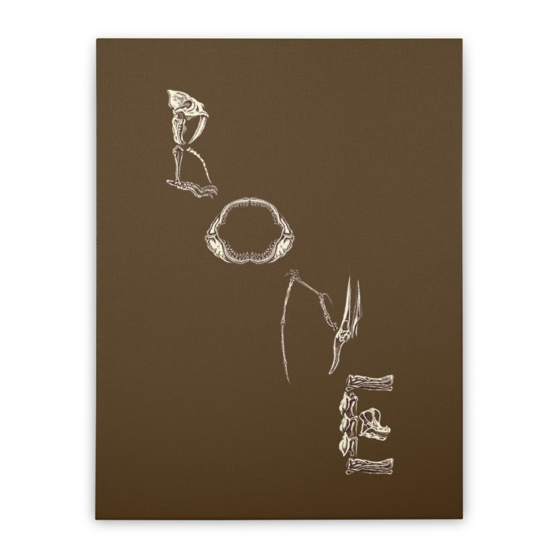 Bone Home Stretched Canvas by funnyfuse's Artist Shop
