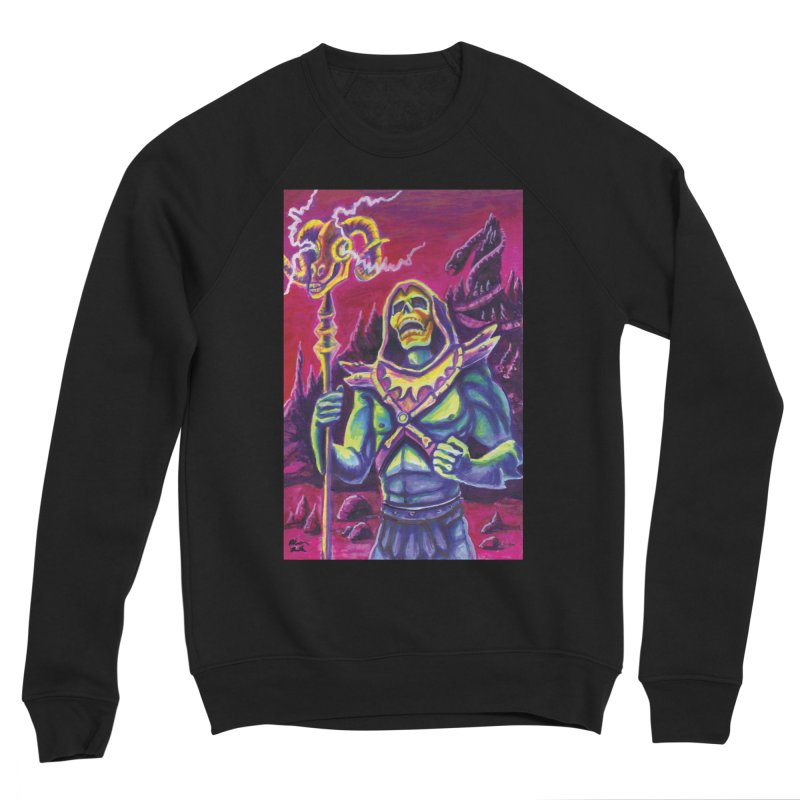 Skeletor Men's Sponge Fleece Sweatshirt by funnyfuse's Artist Shop