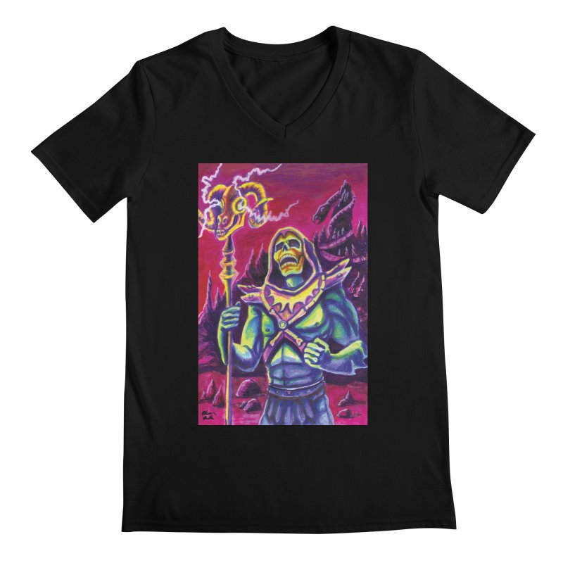 Skeletor Men's V-Neck by funnyfuse's Artist Shop