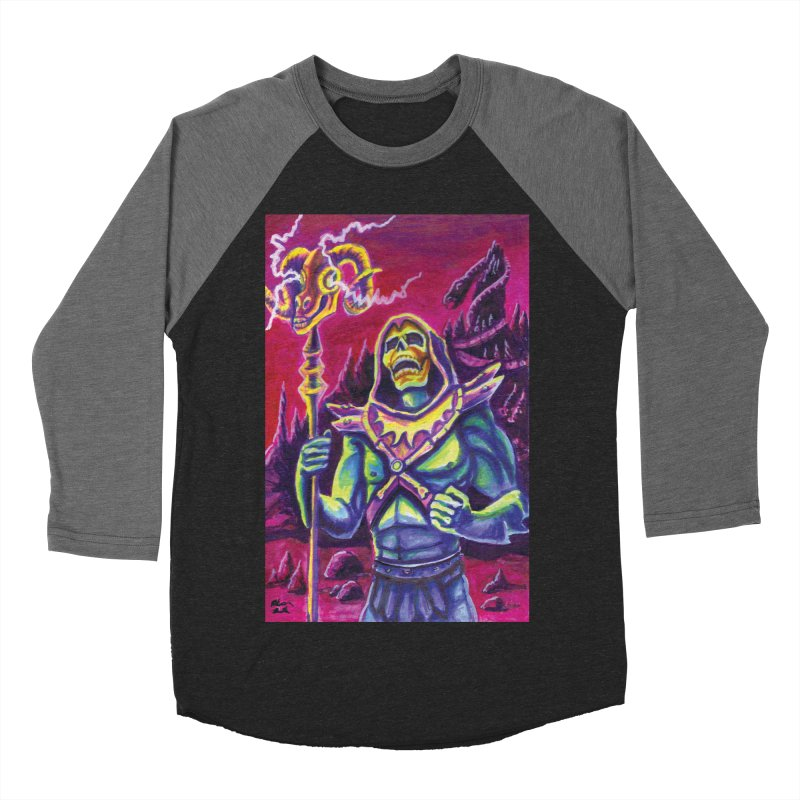 Skeletor Men's Baseball Triblend Longsleeve T-Shirt by funnyfuse's Artist Shop