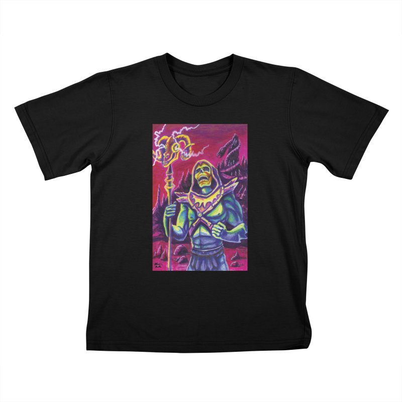 Skeletor Kids T-Shirt by funnyfuse's Artist Shop