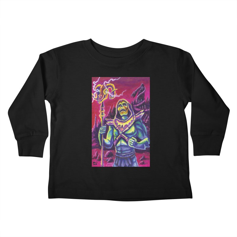 Skeletor Kids Toddler Longsleeve T-Shirt by funnyfuse's Artist Shop