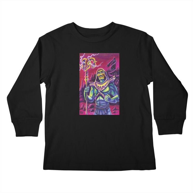 Skeletor Kids Longsleeve T-Shirt by funnyfuse's Artist Shop