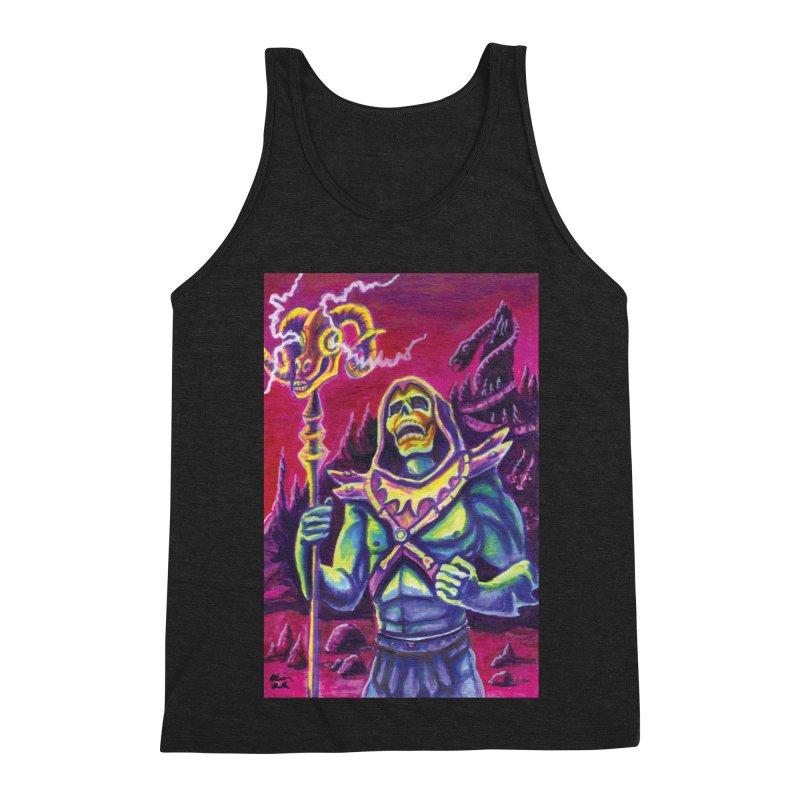 Skeletor Men's Triblend Tank by funnyfuse's Artist Shop