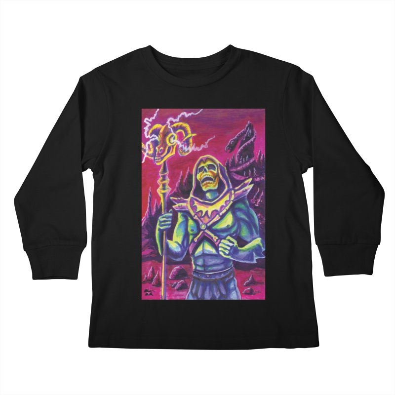 Skeletor Kids Longsleeve T-Shirt by funnyfuse's Artist Shop